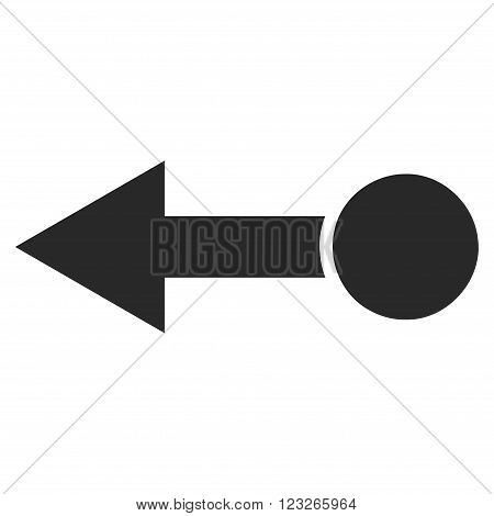 Pull Left vector icon. Pull Left icon symbol. Pull Left icon image. Pull Left icon picture. Pull Left pictogram. Flat gray pull left icon. Isolated pull left icon graphic. Pull Left icon illustration.
