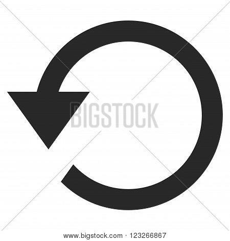 Rotate Ccw vector icon. Rotate Ccw icon symbol. Rotate Ccw icon image. Rotate Ccw icon picture. Rotate Ccw pictogram. Flat gray rotate ccw icon. Isolated rotate ccw icon graphic.