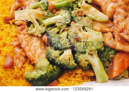 Chinese (American) Takeout of Chicken & Broccoli