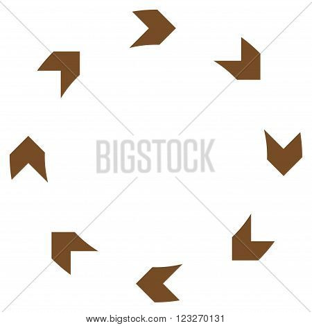 Circulation vector icon. Style is flat icon symbol, brown color, white background.