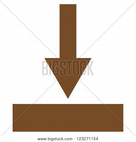 Move Bottom vector icon. Style is flat icon symbol, brown color, white background.