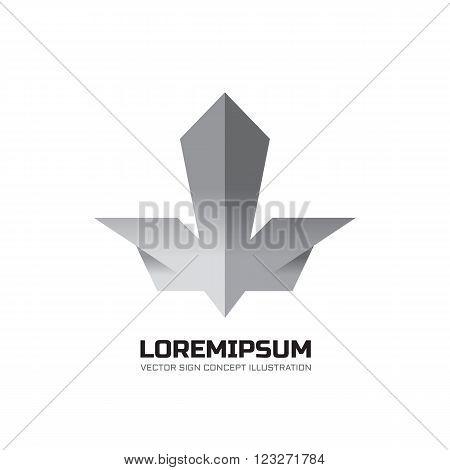 Abstract vector logo illustration. Grey geometric shape design elements illustration. Vector logo template.
