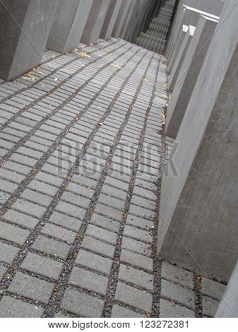 BERLIN - August 9, 2014: The Holocaust Memorial in Berlin, Germany.