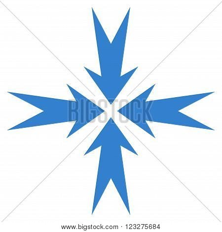 Compression Arrows vector icon. Style is flat icon symbol, cobalt color, white background.