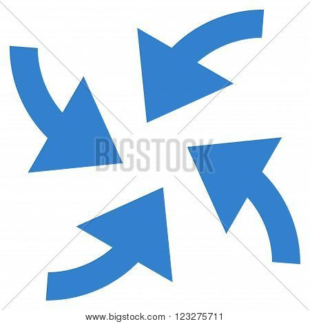 Cyclone Arrows vector icon. Style is flat icon symbol, cobalt color, white background.