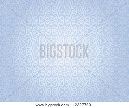 blue silver vintage background repetitive pattern design