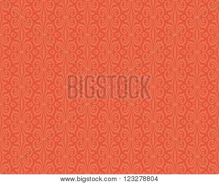 Retro style orange colorful vintage  background pattern design