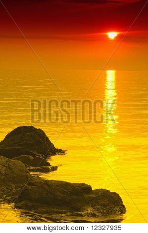 Fine Orange Sunset