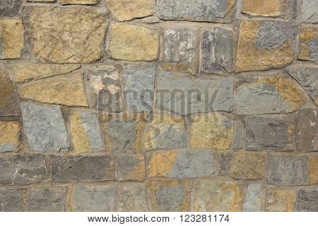 Tile coating in the shape of stone