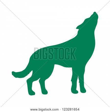 Wild wolf animal flat vector silhouette and wild animal symbol. Animal silhouette. Wild life animals silhouette. Vector silhouette wild animal zoo vector.