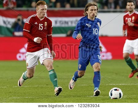 Hungary Vs. Croatia International Friendly Football Match