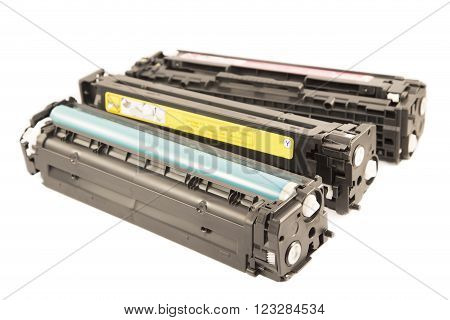 Laser cartridges isolated on a white background