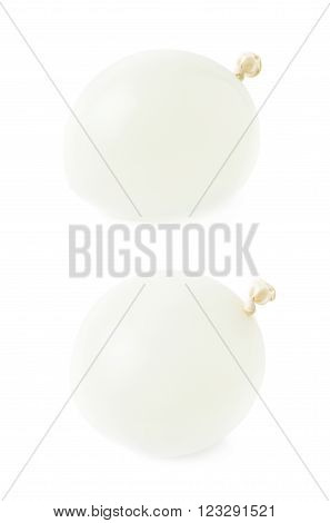 Water filled air balloon isolated over the white background, set collection of two different foreshortenings