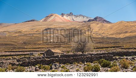 Village in remote area of of Altiplano, Bolivia, South America.