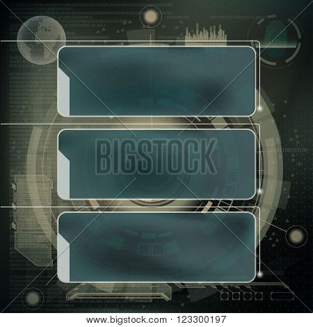Infographics design. Technology interface. Stock vector illustration.