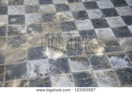 stone, gamero textured floor or chess, nineteenth century, grungy texture and old