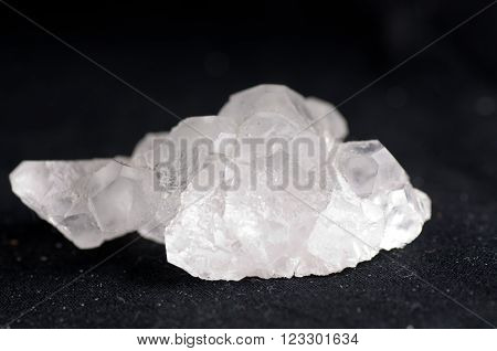 fluorite white crystal mineral sample of a gemstone with quartz