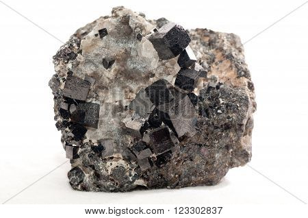 magnetite iron metal mineral sample a rare earth mineral