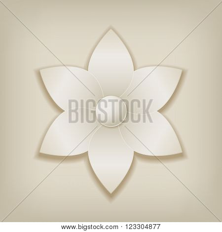 Abstract Paper Flower with shadow. Vector illustration EPS10
