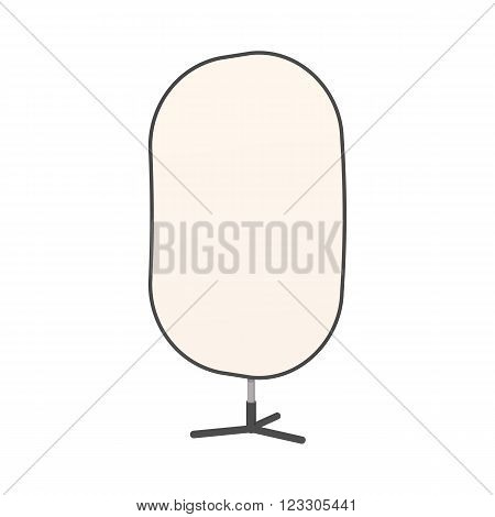 Studio reflector icon in cartoon style isolated on white background. Photo studio reflector on a tripod
