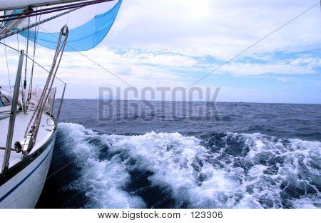 Segeln im Atlantischen Ozean