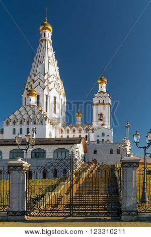 beautiful church of All Saints in Minsk Belarus