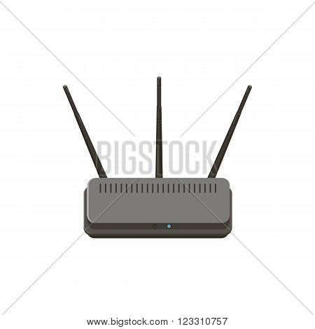 Wireless router icon in cartoon style isolated on white background