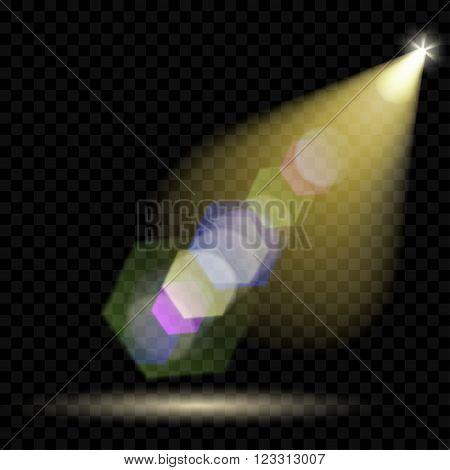 Vector Spotlights. Illumination Of The Scene. Transparent Light Effects