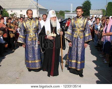 CHORTKIV - TERNOPIL - UKRAINE -16 July 2009. Patriarch of the Ukrainian Orthodox Church 