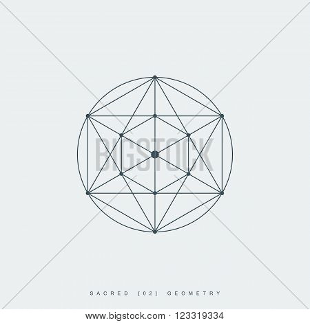 sacred geometry. pentagram sign or symbol. esoteric or spiritual symbol. isolated on white background. vector illustration