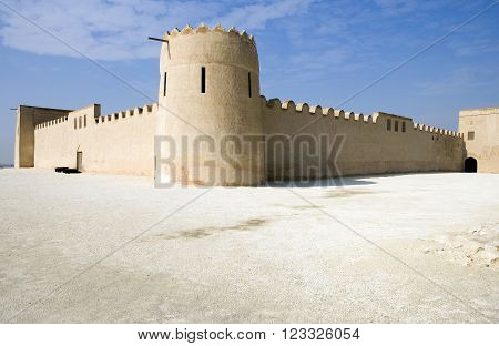 Riffa, Bahrain - January 13, 2007:  The Fort Shaikh Salam bin Ahmed Al Fateh of the XIX century, also known as Riffa Fort.