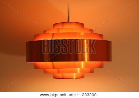 Orange Lampe