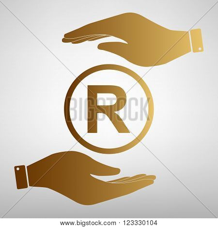 Registered Trademark sign. Flat style icon vector illustration.