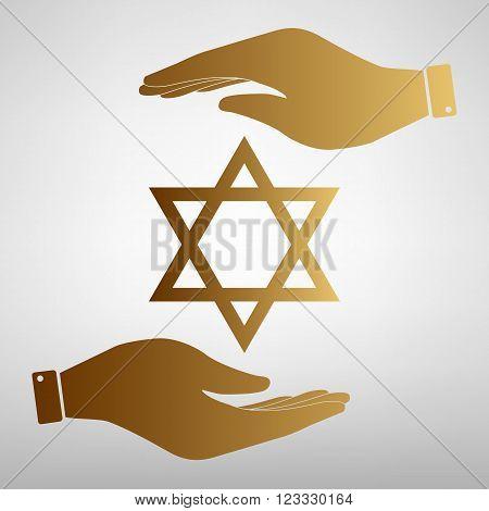 Star Shield Magen David. Symbol of Israel.