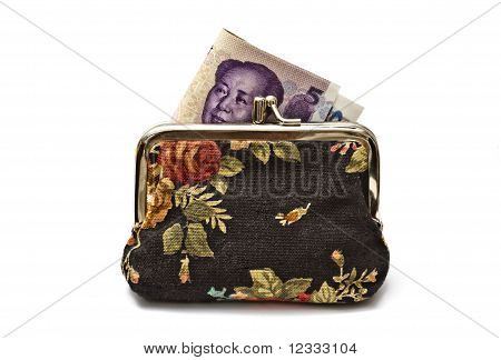 Chinese Money In Beautiful Purse