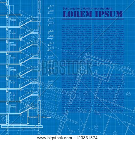Architectural background. Space for your text. Vector