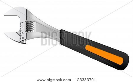 Photo realistic vector wrench on white background