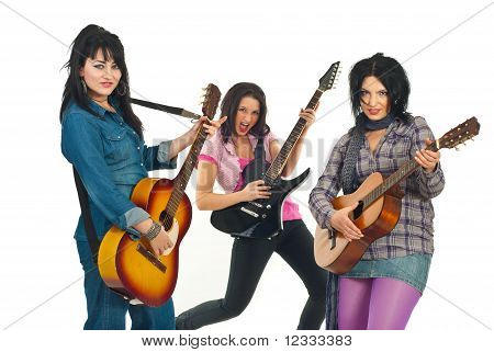Rock Guitarists Band Women