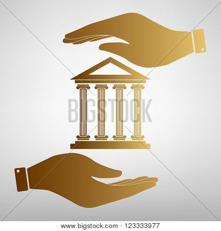Historical building. Flat style icon vector illustration.