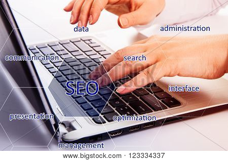 SEO optimization. The concept of quick success. Confidence and resilience