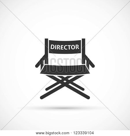 Directors chair icon. Wooden movie director chair