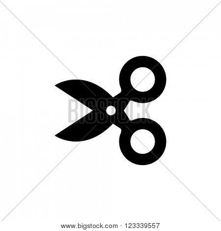 Cute scissors icon