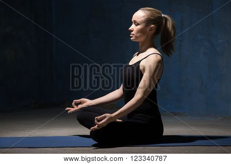 Beautiful Yoga Woman Sitting On Meditation Session