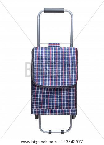 Shopping trolley bag, isolated on a white background. Front view.