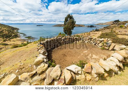Rural Settlements On Island Of The Sun, Titicaca Lake, Bolivia