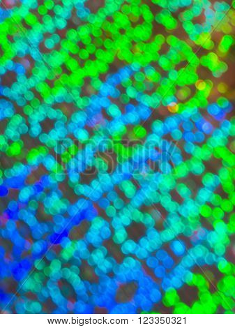 Blurred blue and green bright bokeh background