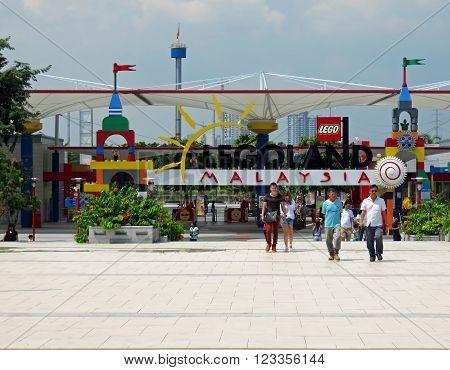 JOHOR MALAYSIA  - NOVEMBER 11 2014:  Colorful Entrance of LEGOLAND Malaysia Theme Park November 11, 2014  in Johor, Malaysia