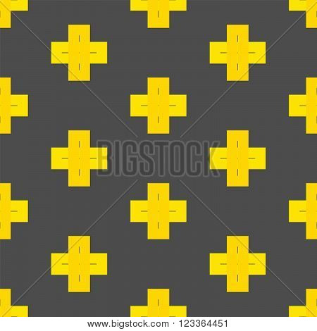 Seamless Abstract Pattern From Plus Cross Symbols