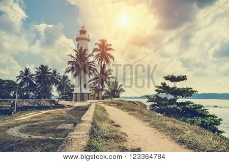 The lighthouse in the town of Galle. Sri Lanka