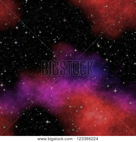 Universe filled with stars, nebula and galaxy. Dark night sky full of stars. The nebula in outer space.